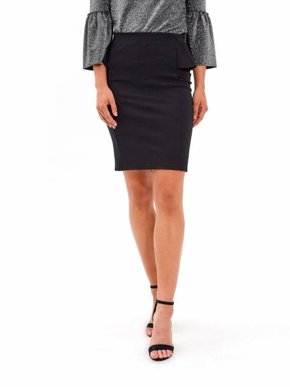 BODYCON SKIRT WITH RUFFLE