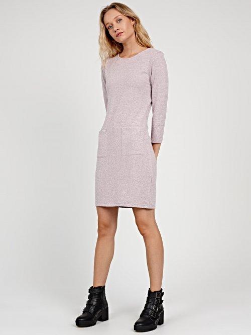 Úpletové šaty s vreckami e5c515a9608