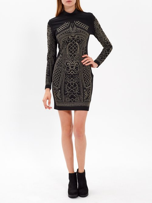 Bodycon dress with studs
