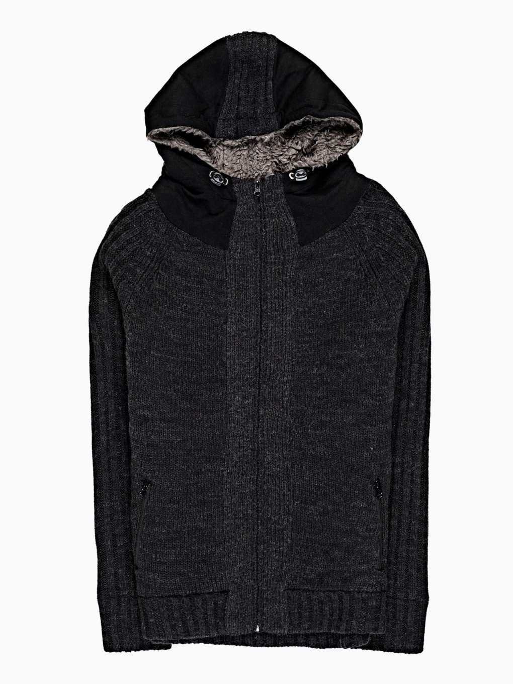 PADDED ZIP-UP CARDIGAN WITH HOOD