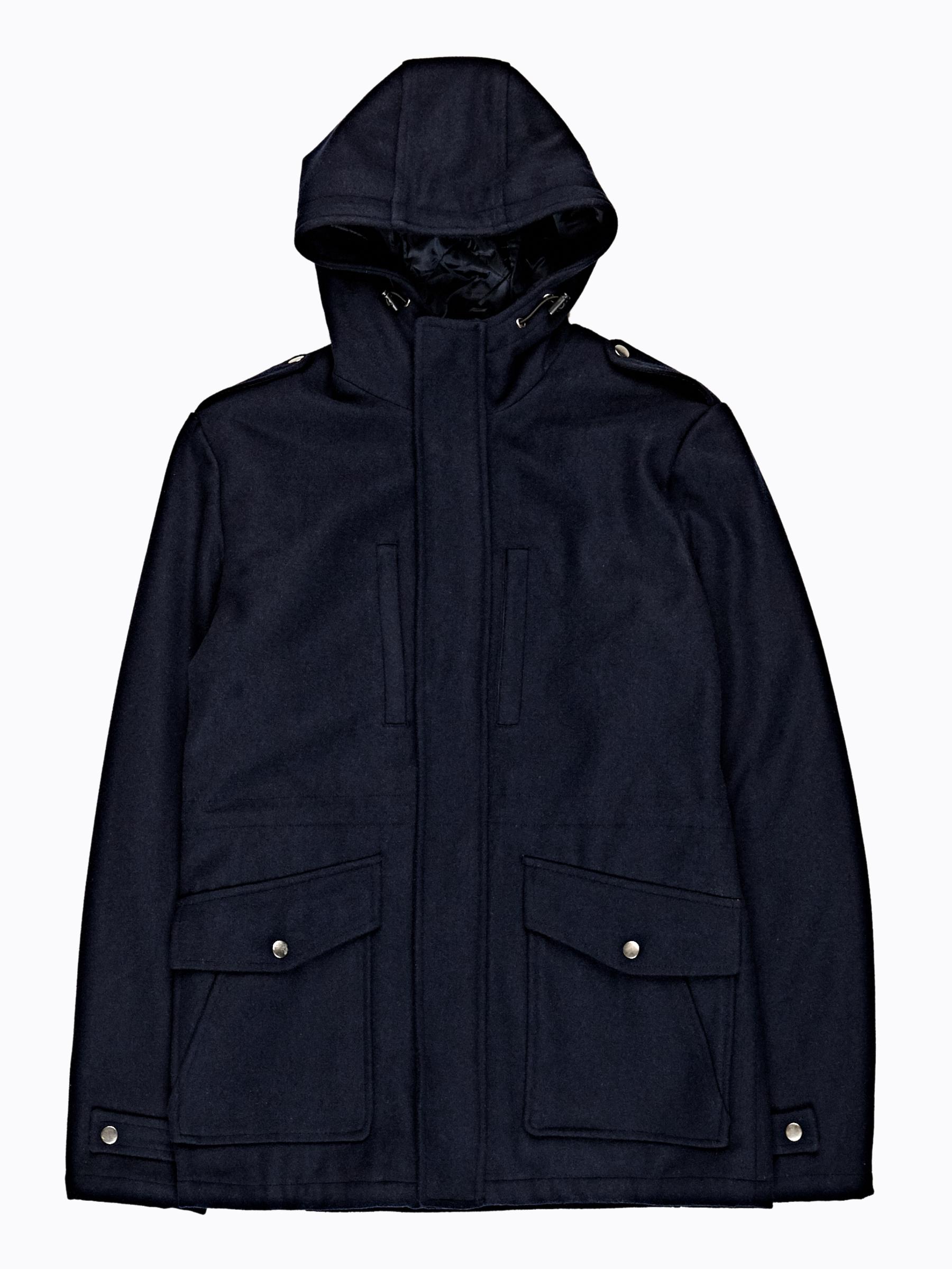 GATE Kabát z vlnenej zmesi s kapucňou