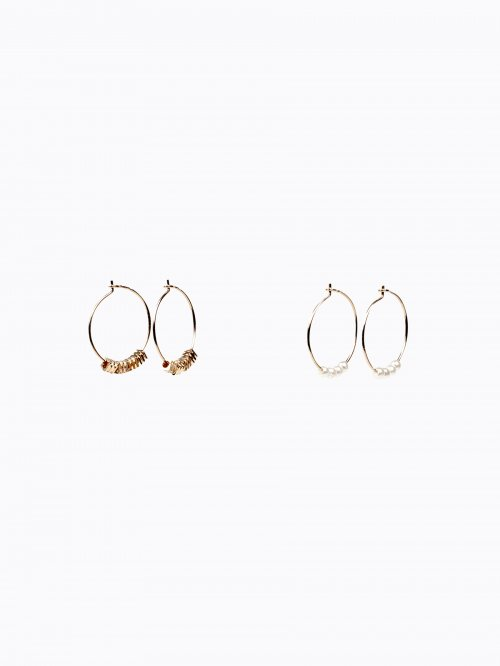 2-PACK HOOP EARRINGS SET