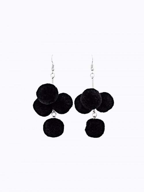 Mini pom pom earrings
