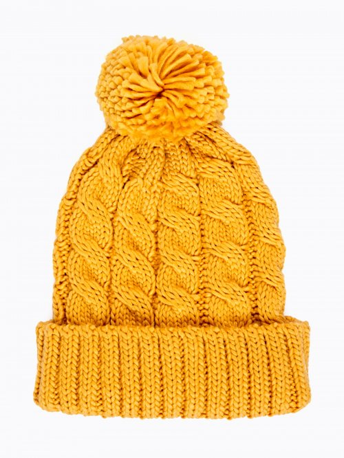 CABLE-KNIT BEANIE WITH POM