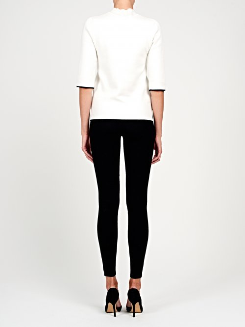 Jeggings with faux leather details