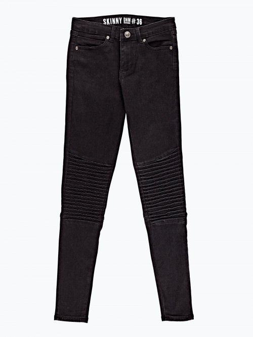 Biker jeans in black wash