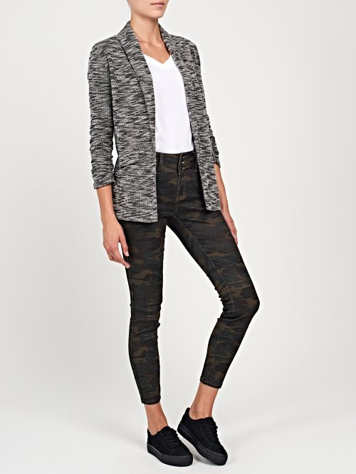Marled prolonged blazer