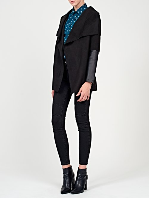 Combined blazer with belt