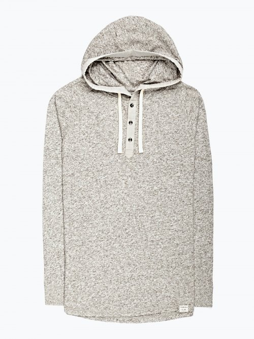Marled t-shirt with hood