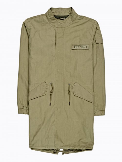PARKA WITH PATCH