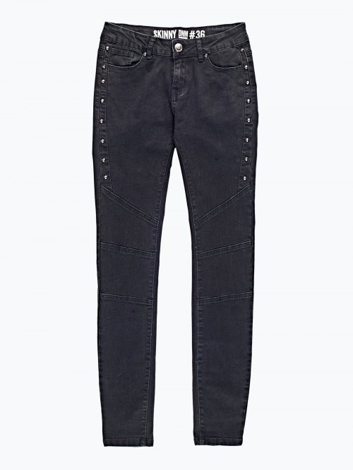 Biker skinny jeans with rivets
