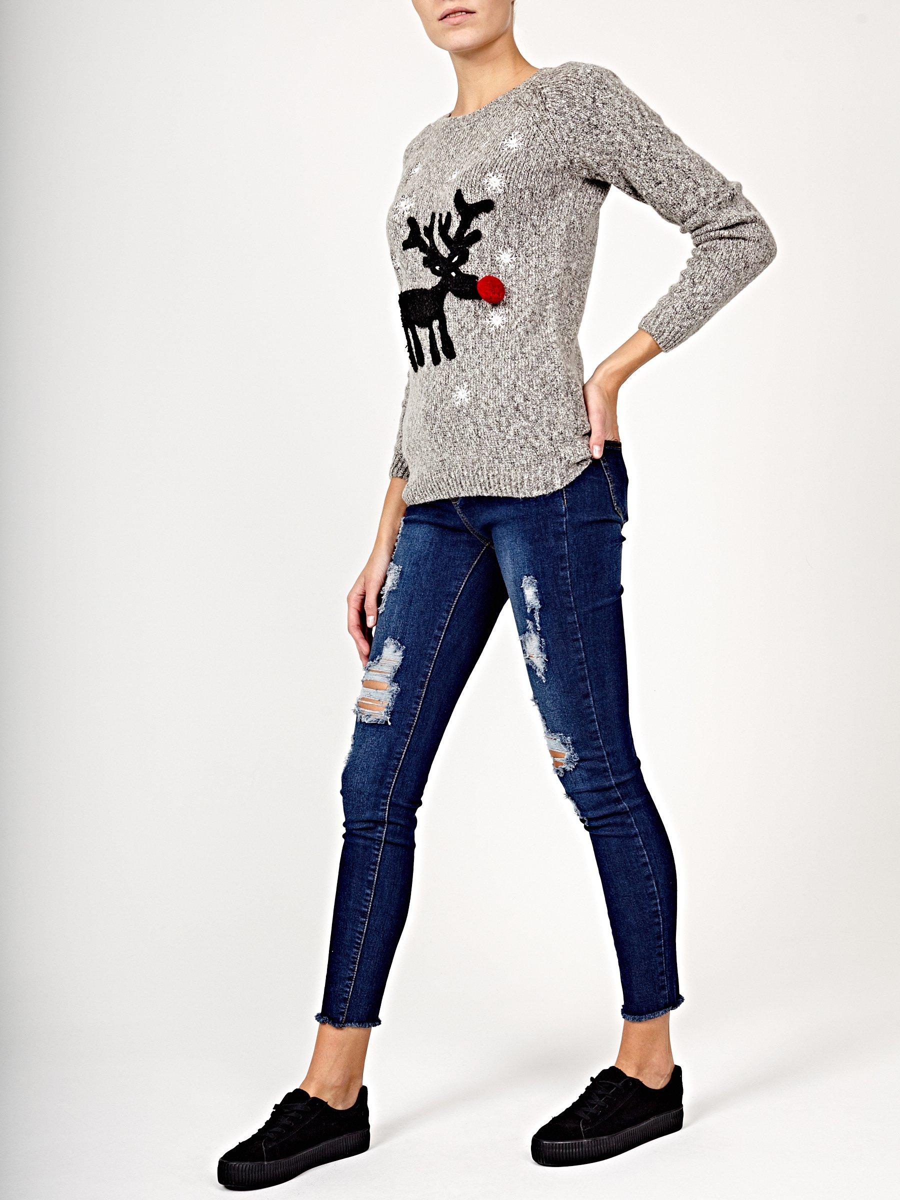 e93d0af2adf5 Vianočný sveter so sobom