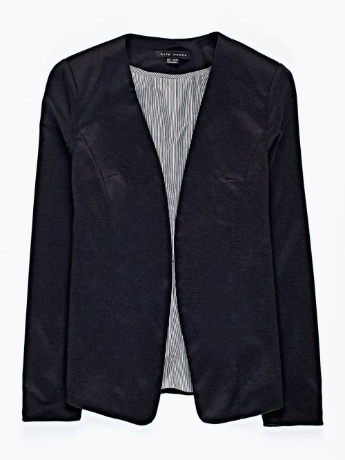 Blazer with striped lining