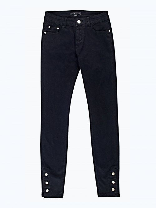 Skinny trousers with snap buttons