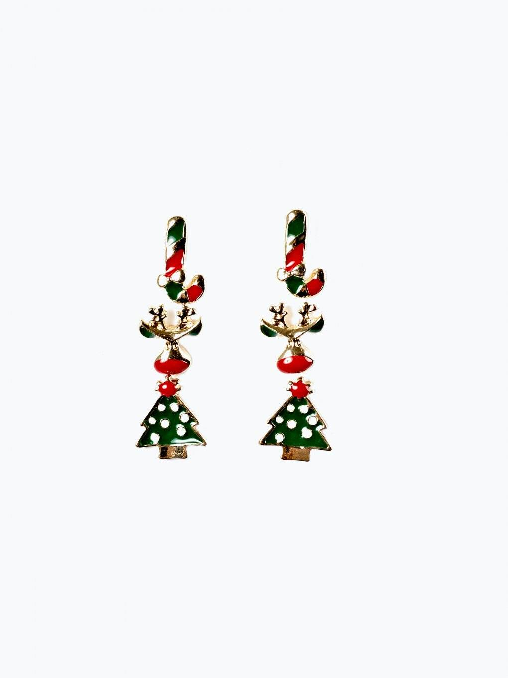 3-pack christmas earrings set