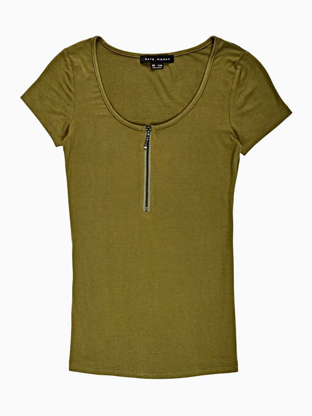 Zipper front t-shirt