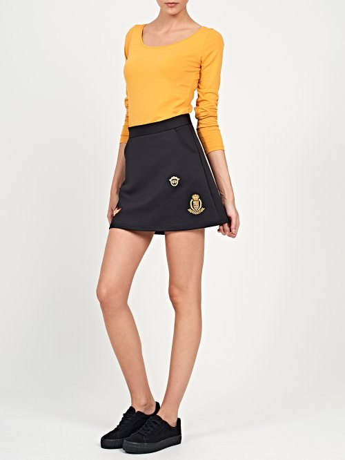Skater skirt with patches
