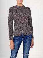 Marled jumper with front slit