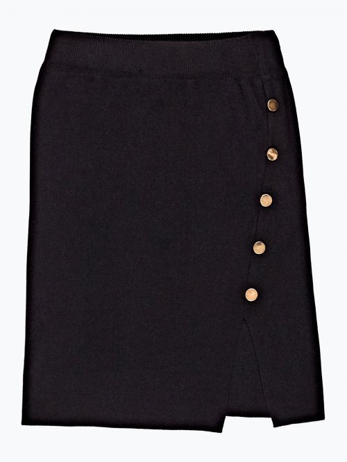 Knitted skirt with buttons
