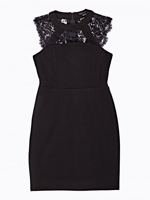 Bodycon dress with lace detail