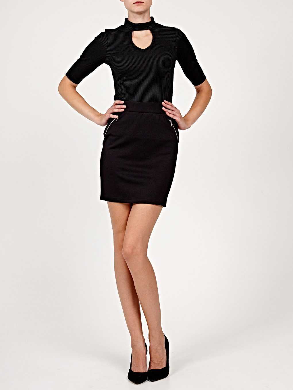 Pencil skirt with zipper details