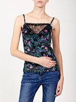 Combined top in flower print