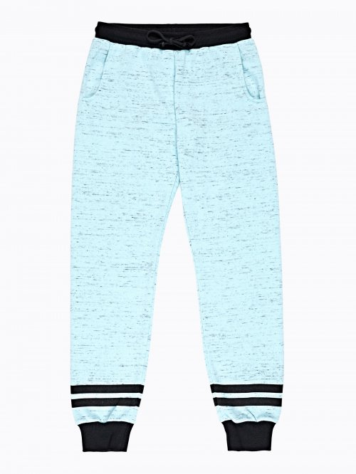 Marled sweatpants with stripes