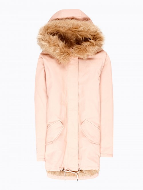 PILE LINED COTTON PARKA