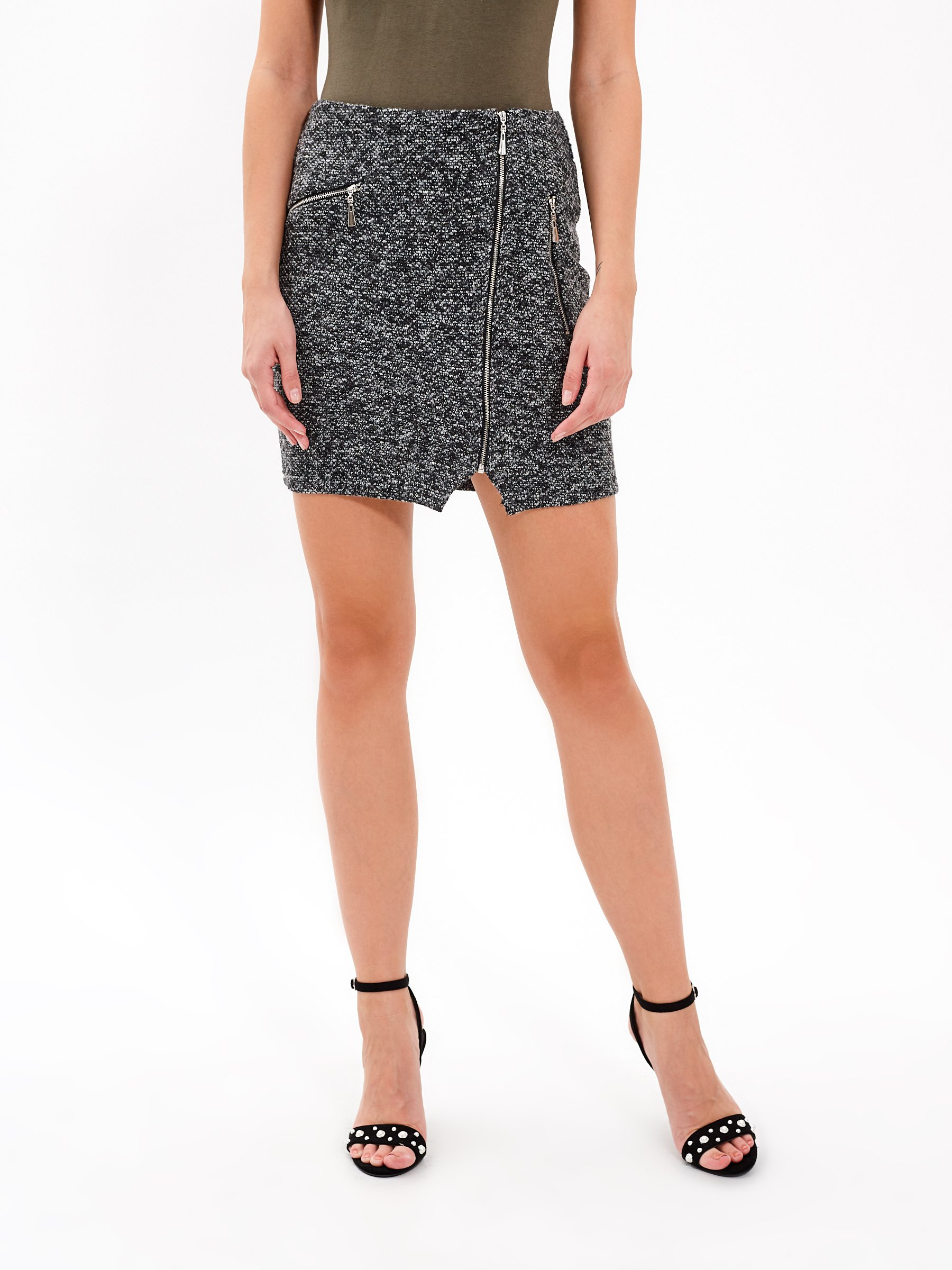 MARLED BODYCON SKIRT WITH ZIPPERS