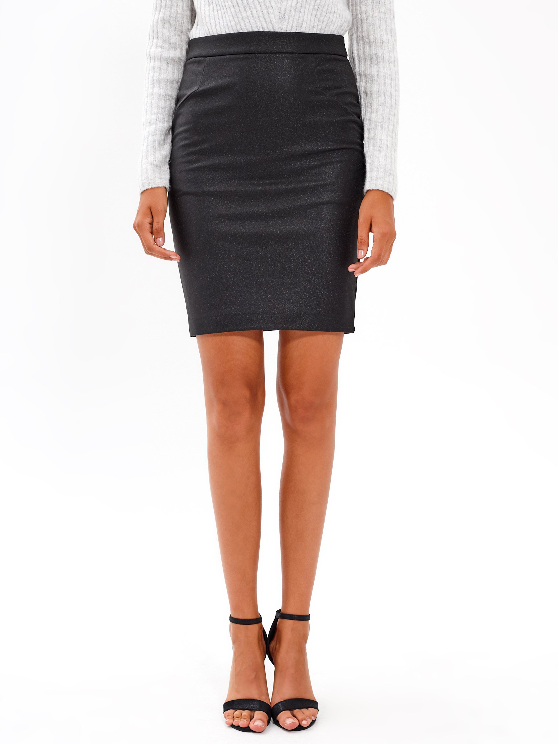 FAUX LEATHER BODYCON SKIRT