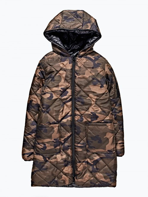 Reversible quilted padded jacket