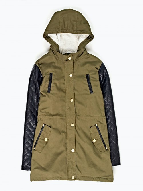 COMBINED PILE LINED PARKA