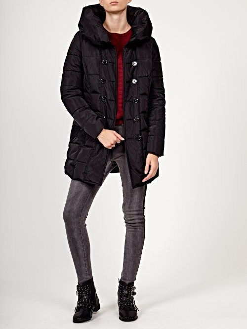 Prolonged quilted jacket