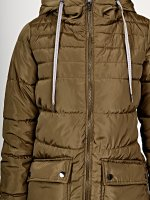 Prolonged qulited padded jacket with hood