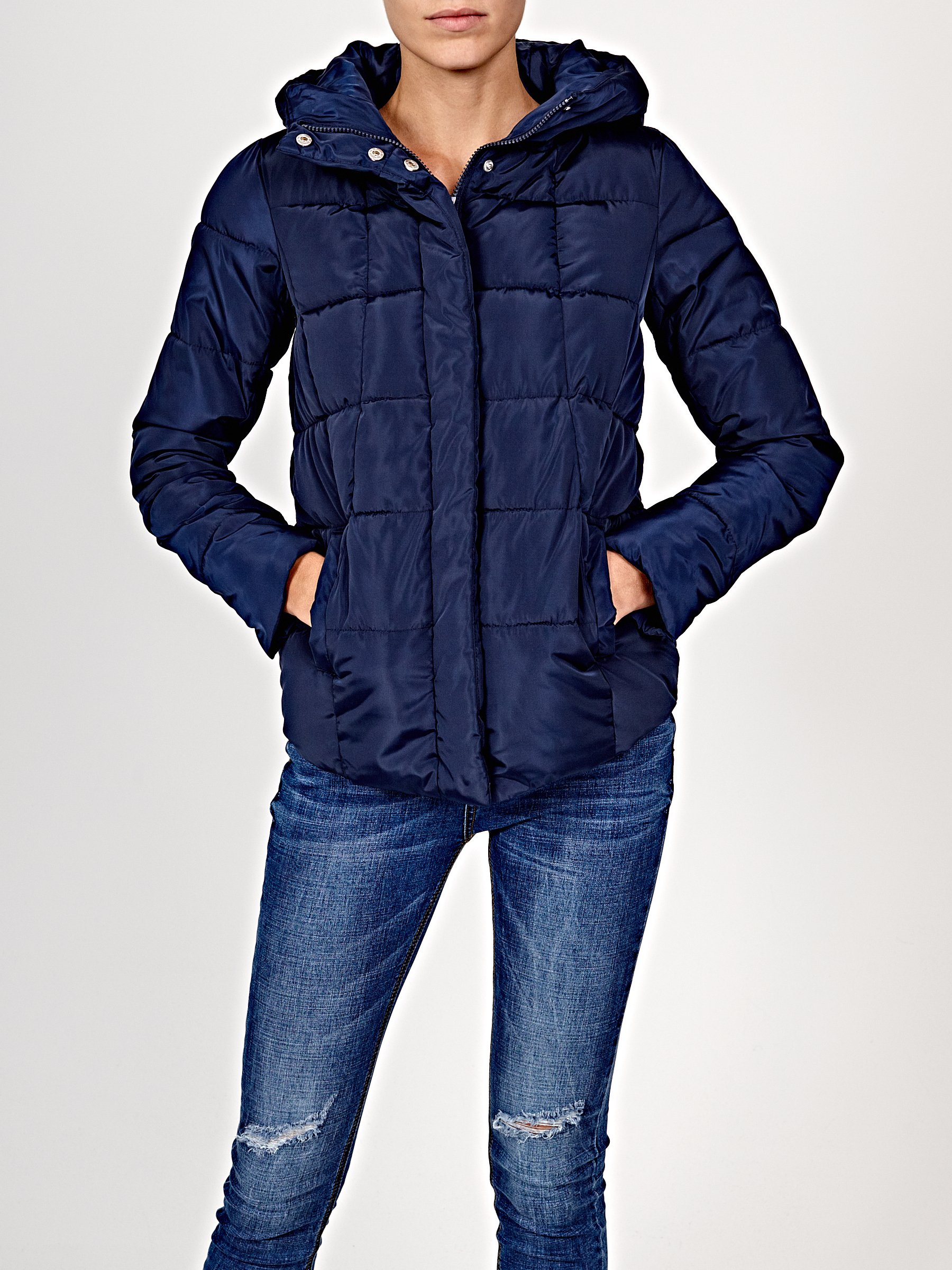 Light padded jacket with hood