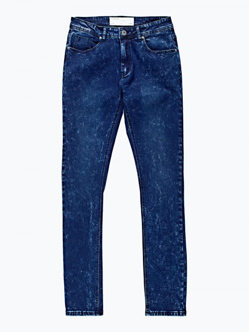 Slim fit snow wash jeans