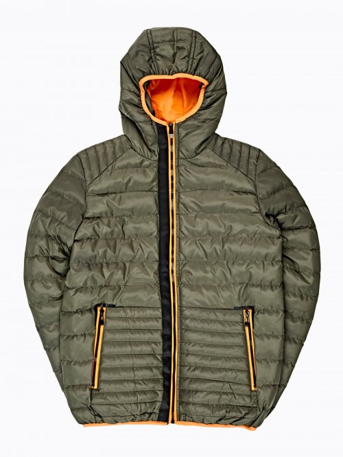 QUILTED PADDED JACKET WITH CONTRAST PIPING