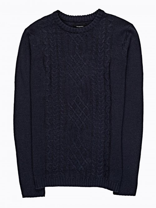 SWEATER WITH CABLE-KNIT DETAILS