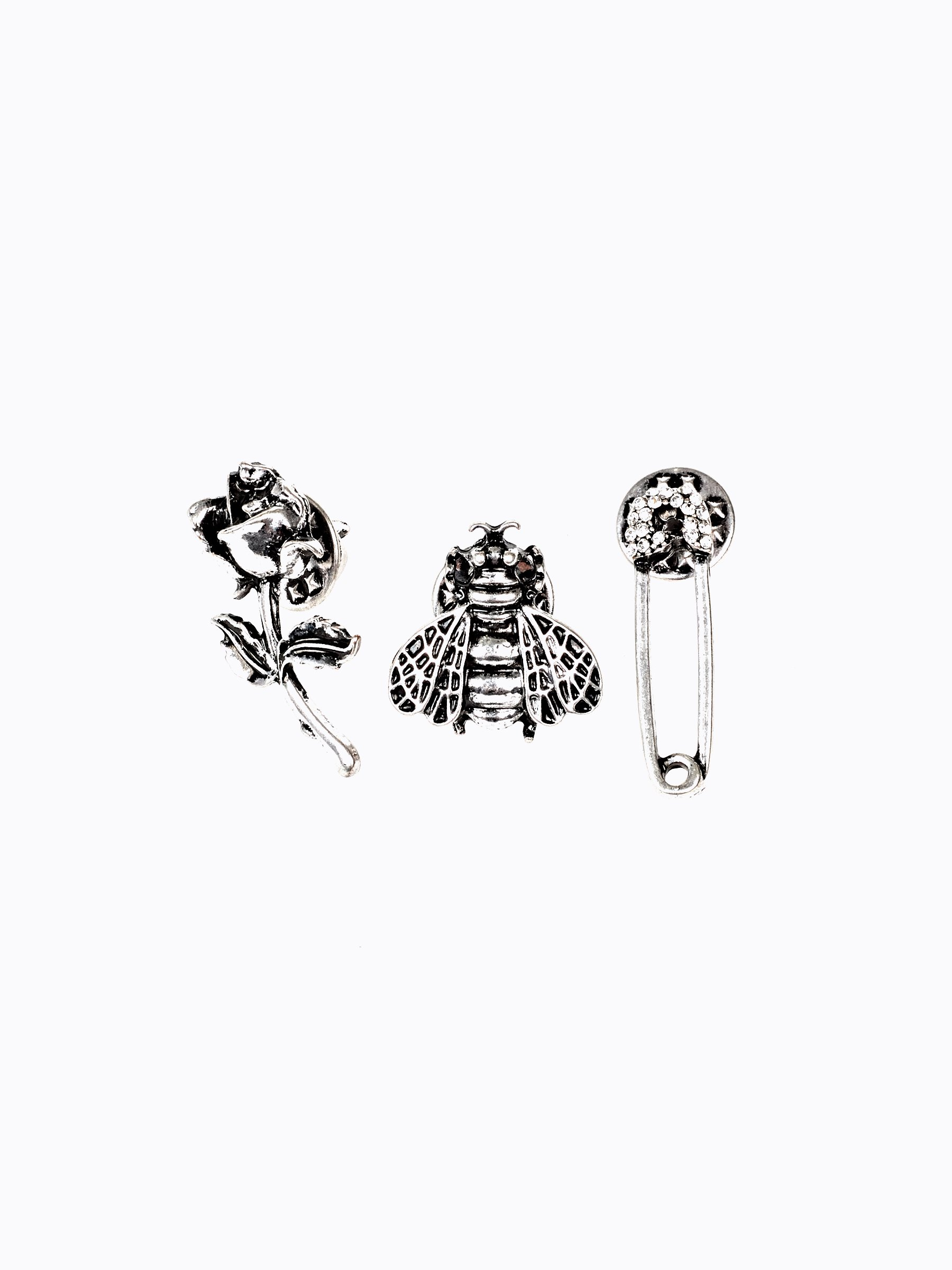 3-PACK BROOCHES SET