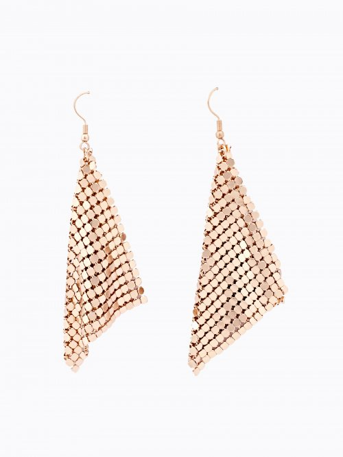 Metallic drop earrings