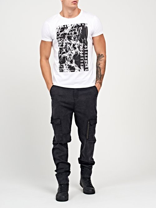 Jogger fit jeans with pockets