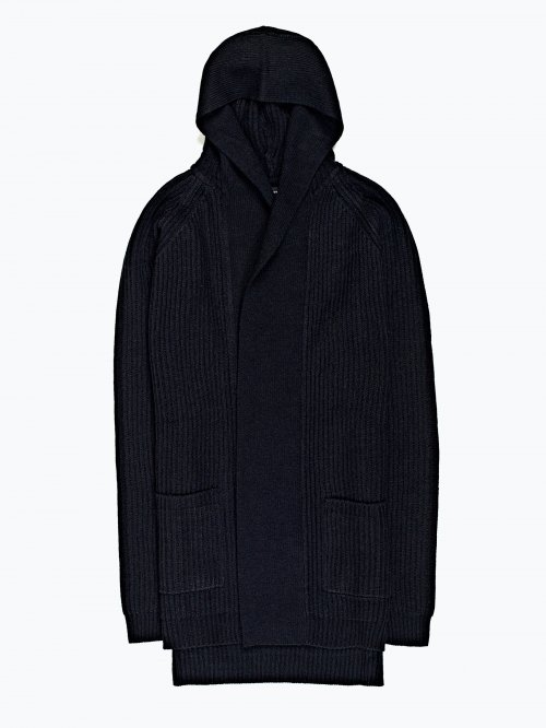 Hooded cardigan