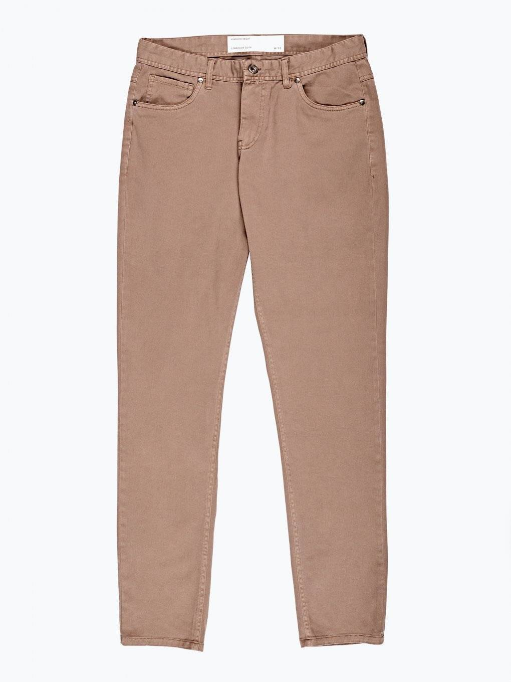 Basic straight slim fit stretch trousers
