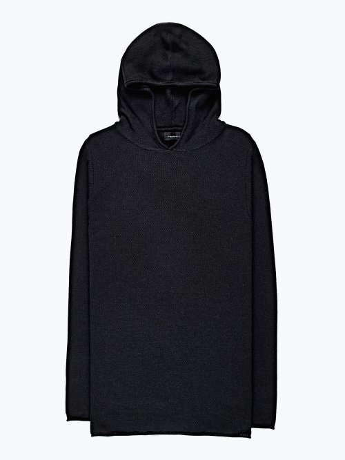 Hooded layered jumper