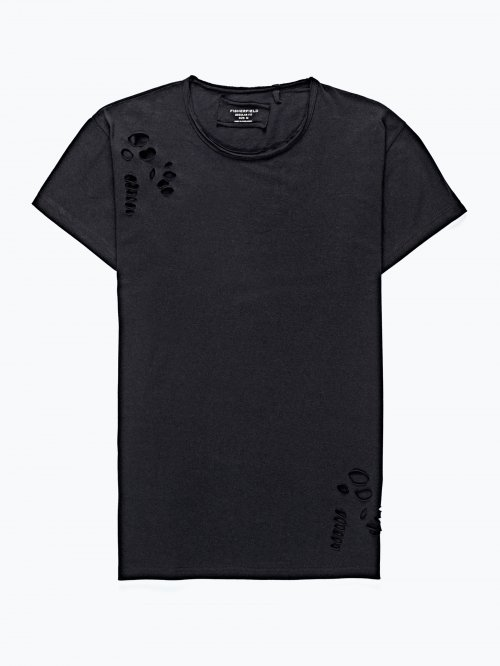 Prolonged distressed t-shirt