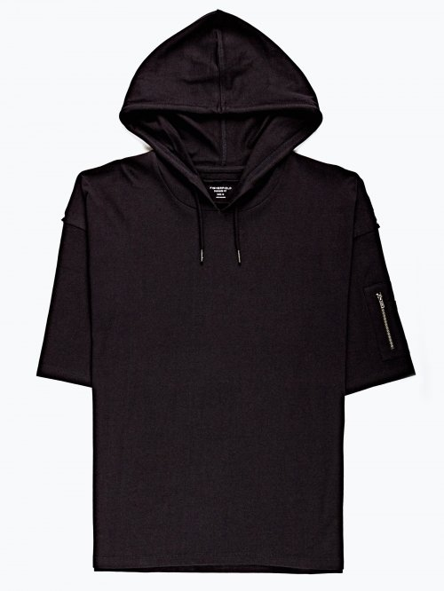 Oversized t-shirt with hood