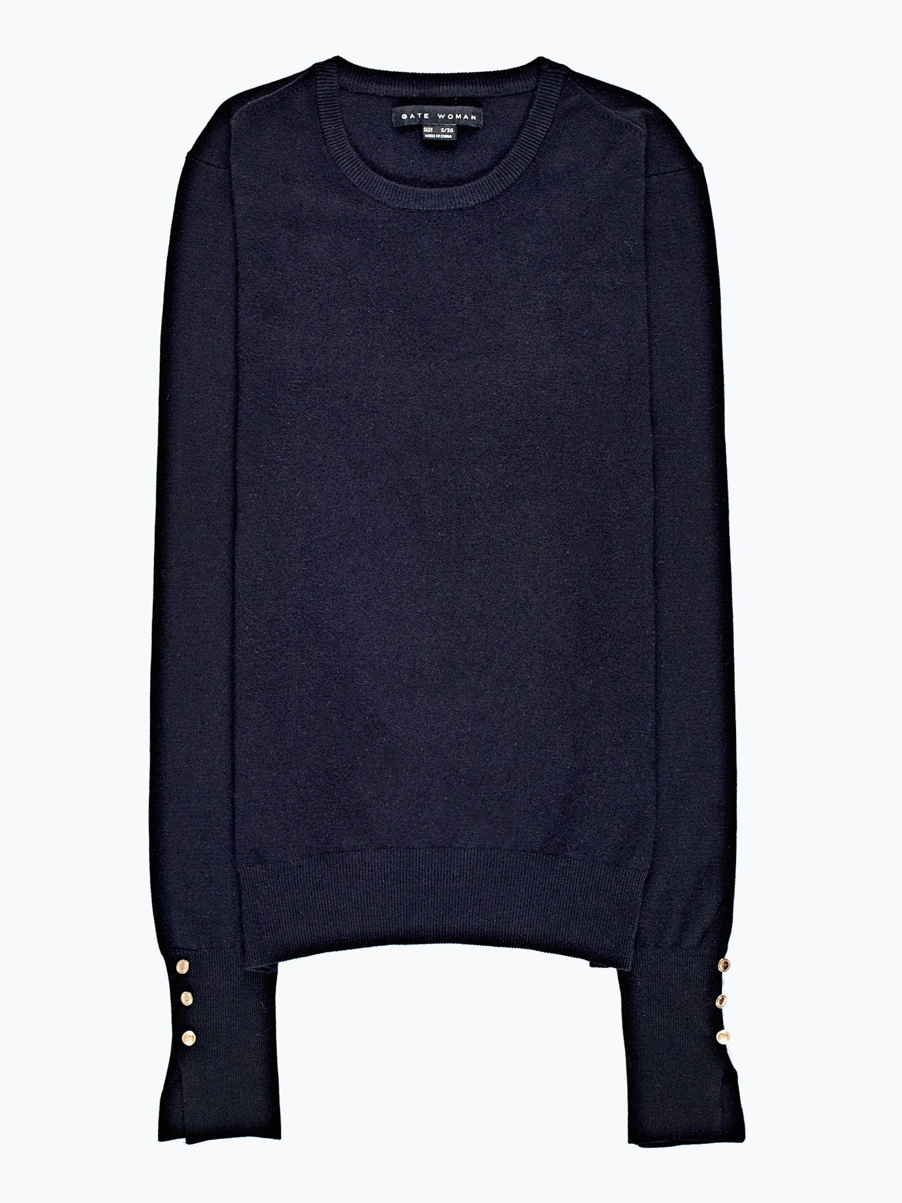 Basic jumper with sleeve buttons