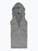 48a343547024 Dlouhá pletená vesta s kapucí