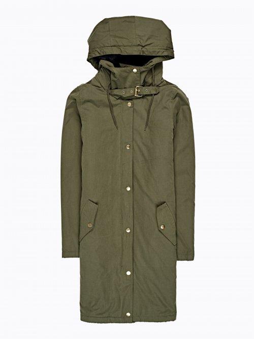 Dlhá vatovaná bunda s kapucňou 53b271cb7ce