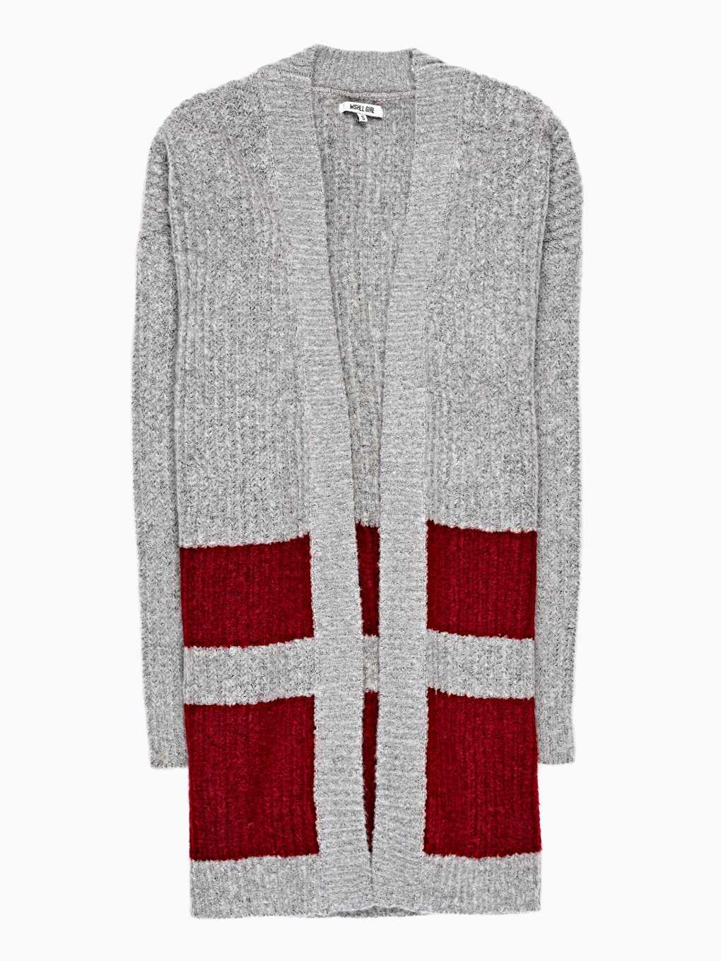 LONGLINE CARDIGAN WITH STRIPES